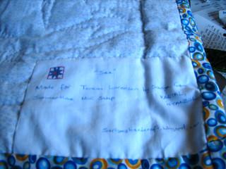 Sea Mini Quilt Label