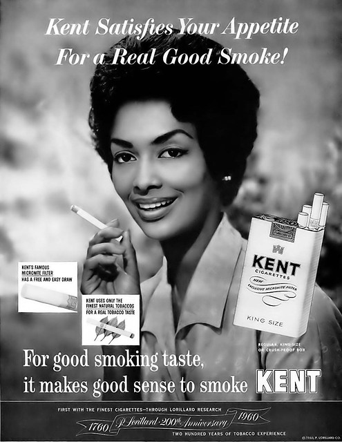 Kent Cigarettes Vintage Advertisement featuring Model Helen Williams - Ebony Magazine, May, 1960
