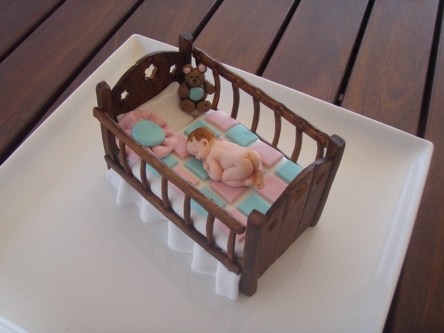 Mossy's Masterpiece - Baby Crib baby shower cake topper