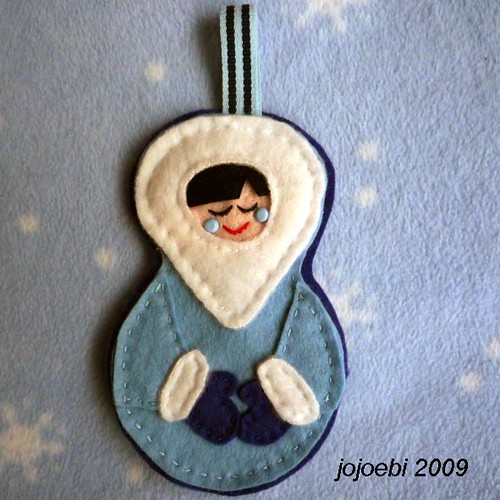 Blue Snow Child Decoration | by jojoebi