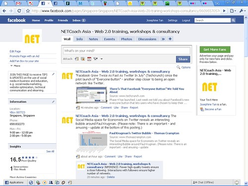 NETCoach Asia page on