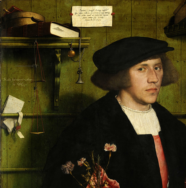 Hans Holbein der Jüngere/the Younger, Der Kaufmann Georg Gisze (The Merchant Georg Gisze) Detail