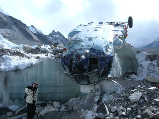 Fallen Russian Helicopter at Base Camp | by everlutionary