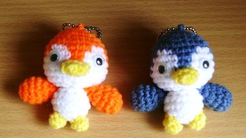baby bird keyrings | Small amigurumi bird keychains. mohumoh ... | 281x500