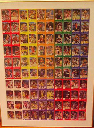 1984 85 Star Company Uncut Sheet With Actual The Real Ro