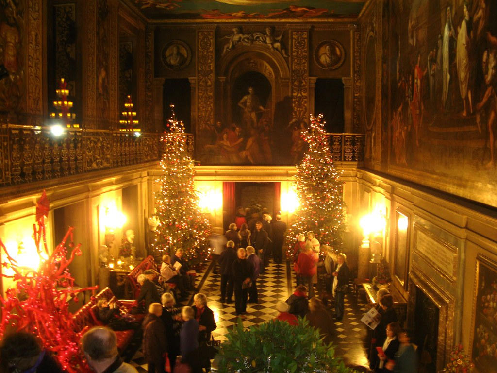 Seasonal Christmas Decorations In The Painted Hall Chatswo