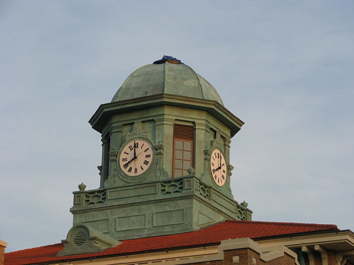 sunset clock architecture florida historical americana courthouse oldflorida