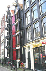 Leaning Buildings, Jordaan District, Amsterdam