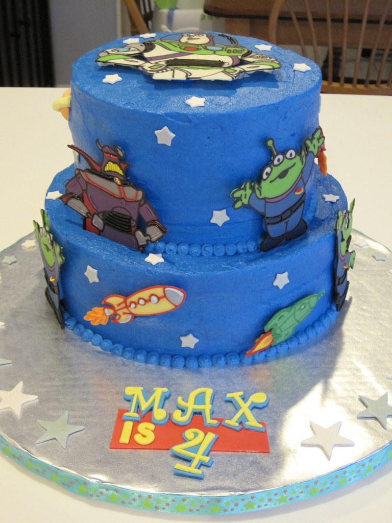 Amazing Buzz Lightyear Cake All Decorations Handmade From Chocolat Flickr Funny Birthday Cards Online Inifodamsfinfo