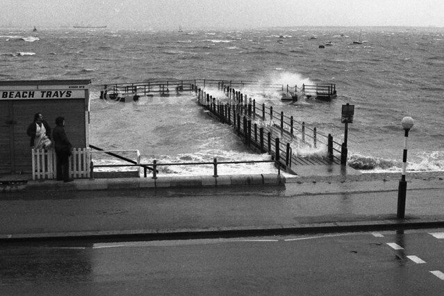 Westcliff Jetty-High Tide - Mar 1974