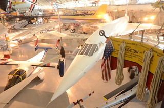 Steven F. Udvar-Hazy Center: Air France Concorde, with Bell XV-15 TRRA Tilt Rotor test plane in foreground | by Chris Devers