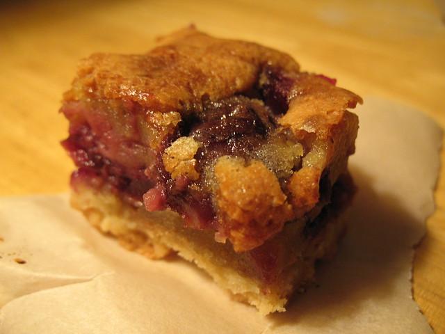 Cherry Brown Butter Bars - from Smitten Kitchen
