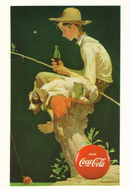 Norman Rockwell Coca Cola Art Postcard