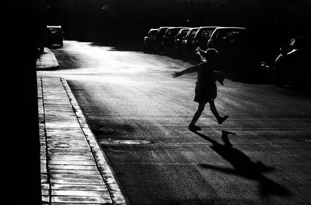 child crossing the street- stavrosstam