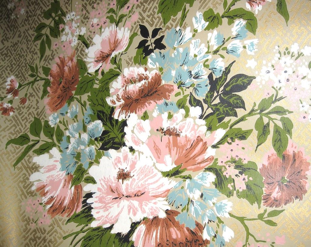 Vintage Floral Park Lane Wallpaper Reproduction Of Victori