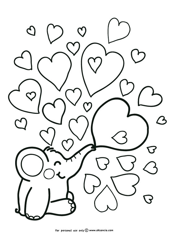Love Weekly Free Coloring Page By Oksanciafree Coloring Flickr