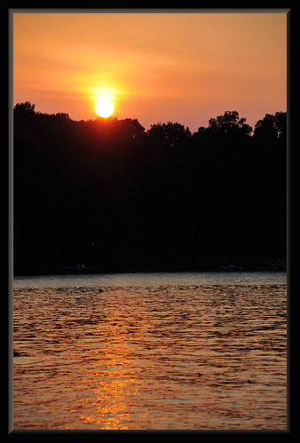 sunset lake water nc northcarolina lakenorman imagebydesignworks