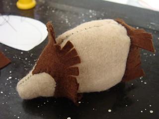 Felt Hedgehog in progress   by lilspikey