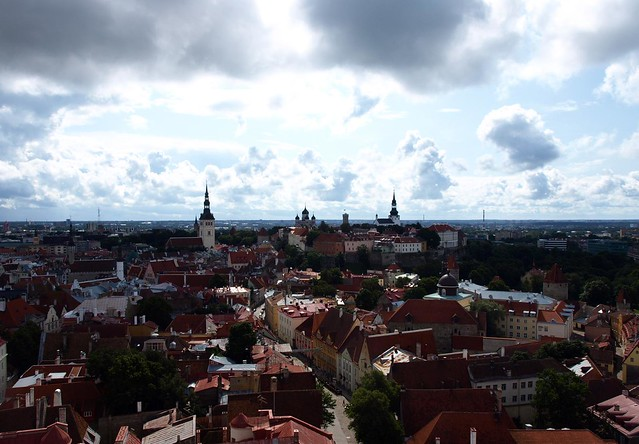 Tallinn seen from the top of S. Olaf Church