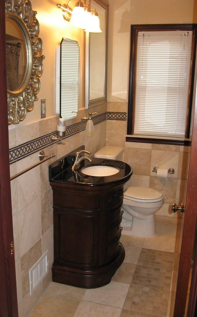Travertine Tile Bathroom Design Www Texastoolteam Com Trav Flickr