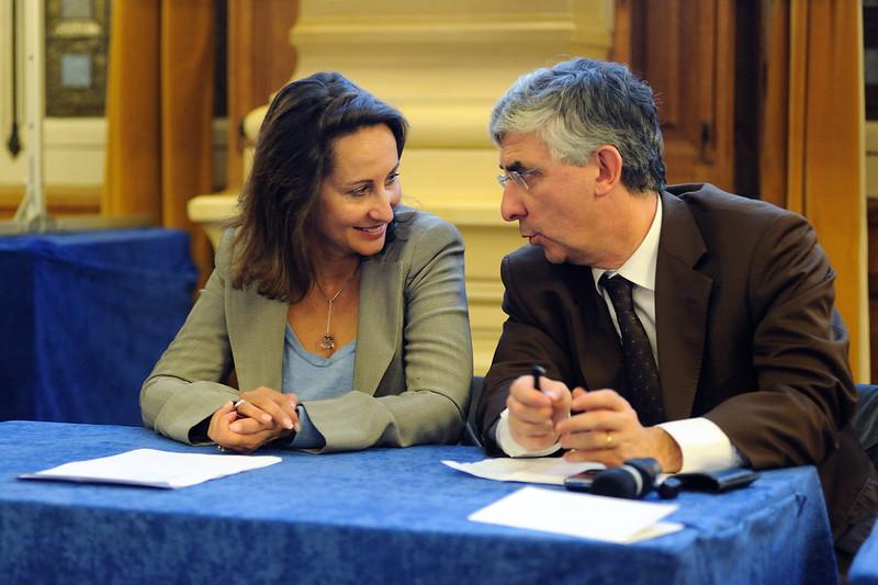 Ségolène Royal et Gaëtan Gorce lors de l'Université sur le Travail
