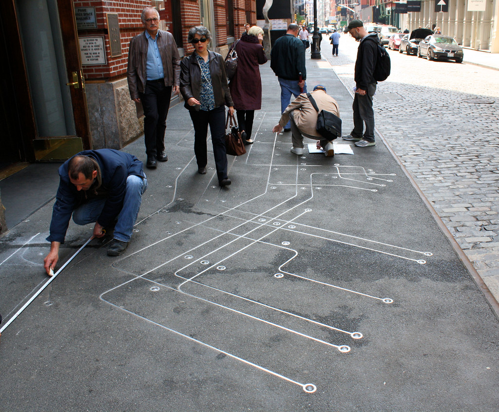 Floating Subway Map.Subway Map Floating On A New York Sidewalk Along The Sidew Flickr