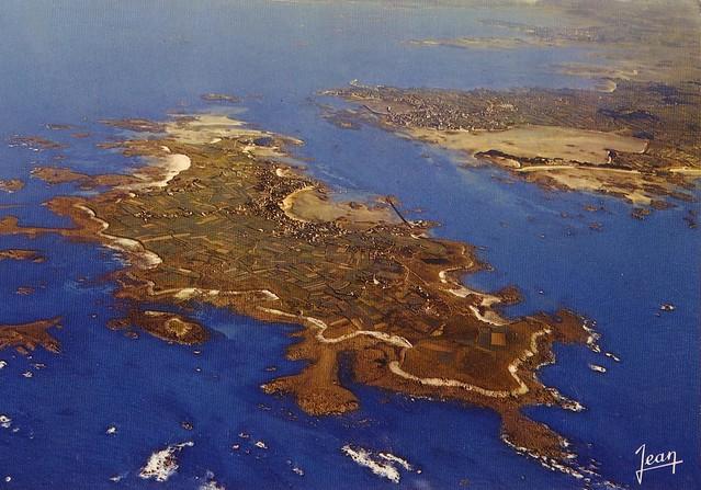 Roscoff - Vue aérienne du chenal de l'île de Batz