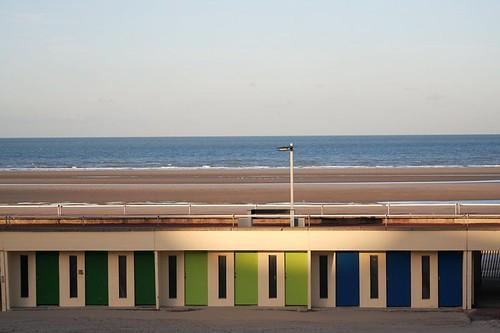 sea beach sunrise dawn coast seaside sand doors chalets letouquet