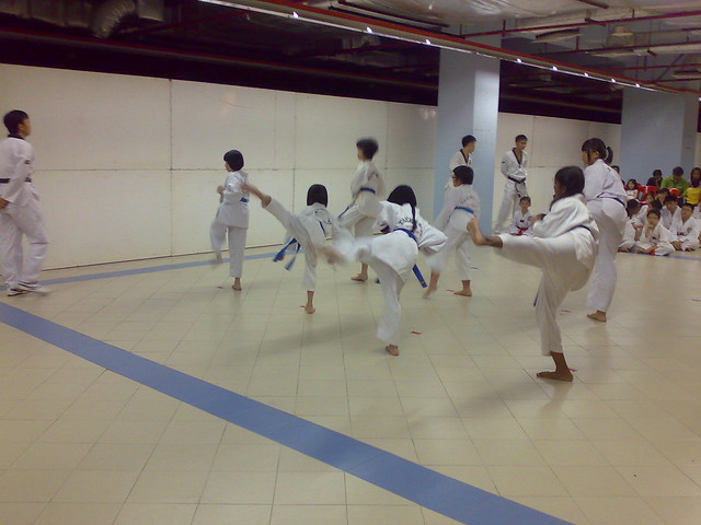 Taekwondo exam for red belt
