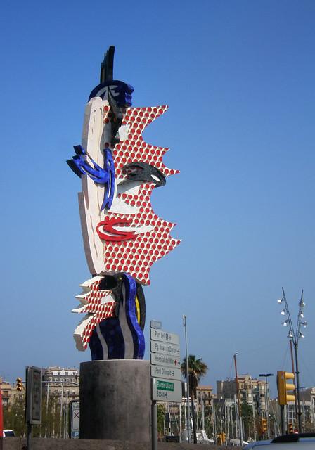 Barcelona Head by Roy Lichtenstein - Cara de Barcelona