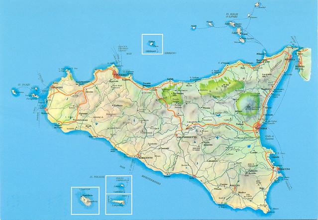 Cartina Autostradale Sicilia.Sicilia Cartina Stradale Bfranca33 Flickr