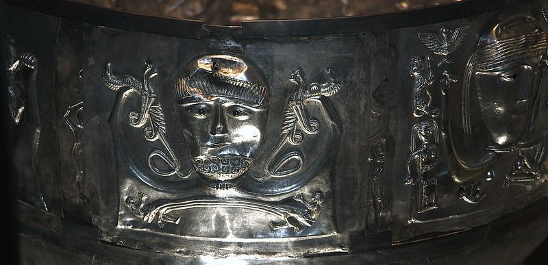 København, Nationalmuseet, Gundestrup cauldron, detail