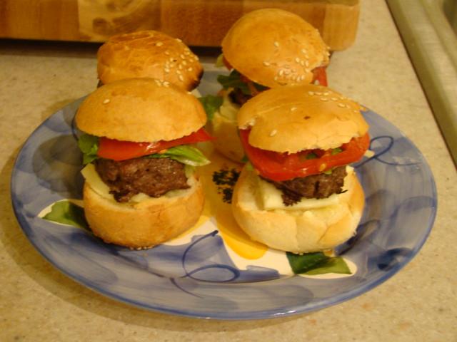 Sliders (Mini Burgers) For Dinner 100709W
