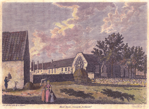 An image of Blackfriars Friary in Newcastle upon Tyne as it may have looked in 1784.