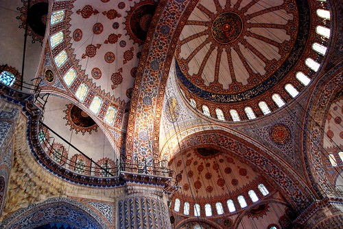 interior, blue mosque, istanbul | by hopemeng