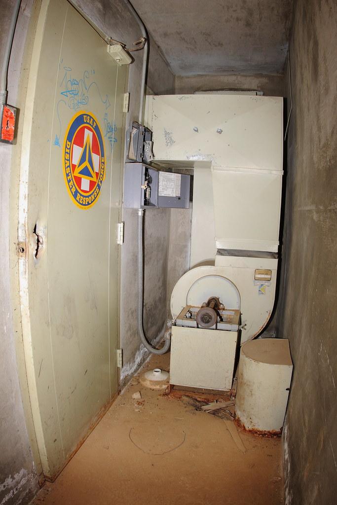 Ventilation equipment inside the bomb shelter