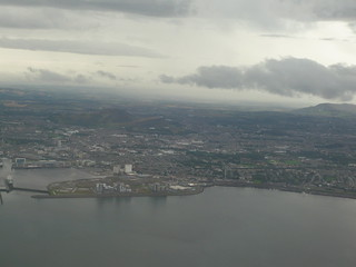 Edinburgh from the plane   by flickrtickr2009