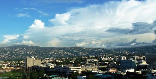city sky architecture clouds buildings geotagged island panoramic kingston jamaica caribbean antilles newkingston westindies 加勒比海 牙买加 geo:lat=18002907 geo:lon=76787857 西印度群岛