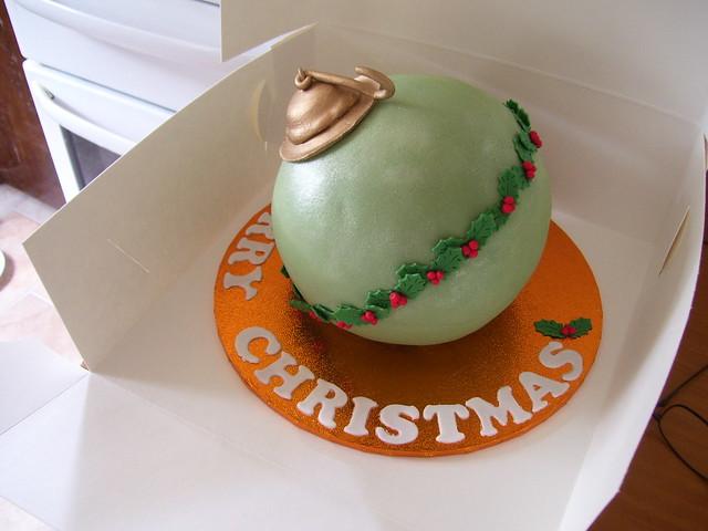 Christmas Bauble fruit cake