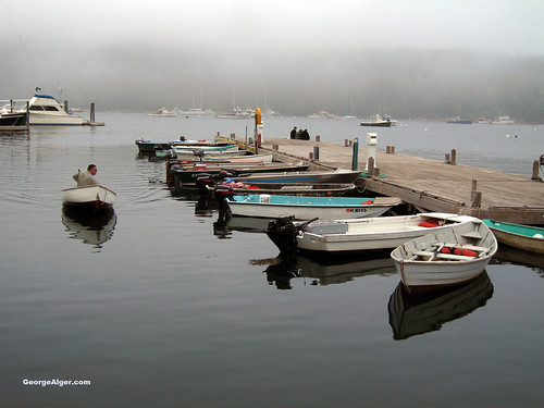 Misty Maine Harbor | by GeorgeAlger.com