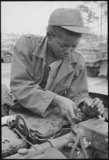 Fort Stewart, Georgia. Female Auto Mechanic