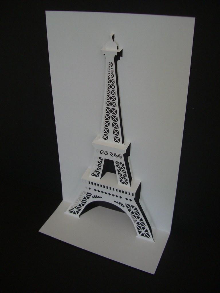 Открытка в виде башни