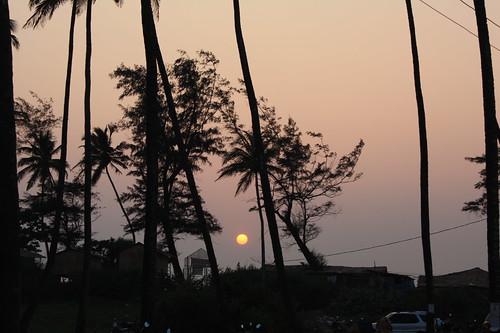 sunset india goa msi arambol