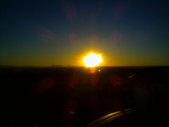 Sunrise over the plains of Sinaloa