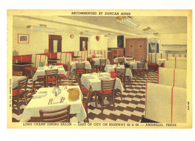 Route 66 Long Champ Dining Salon Postcard