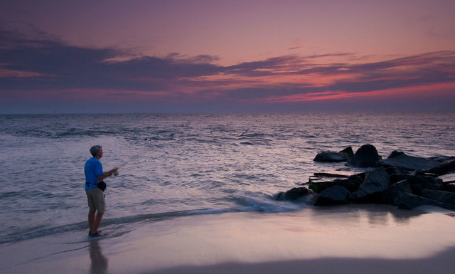 Sunset Fishing at the Point - Cape May, NJ