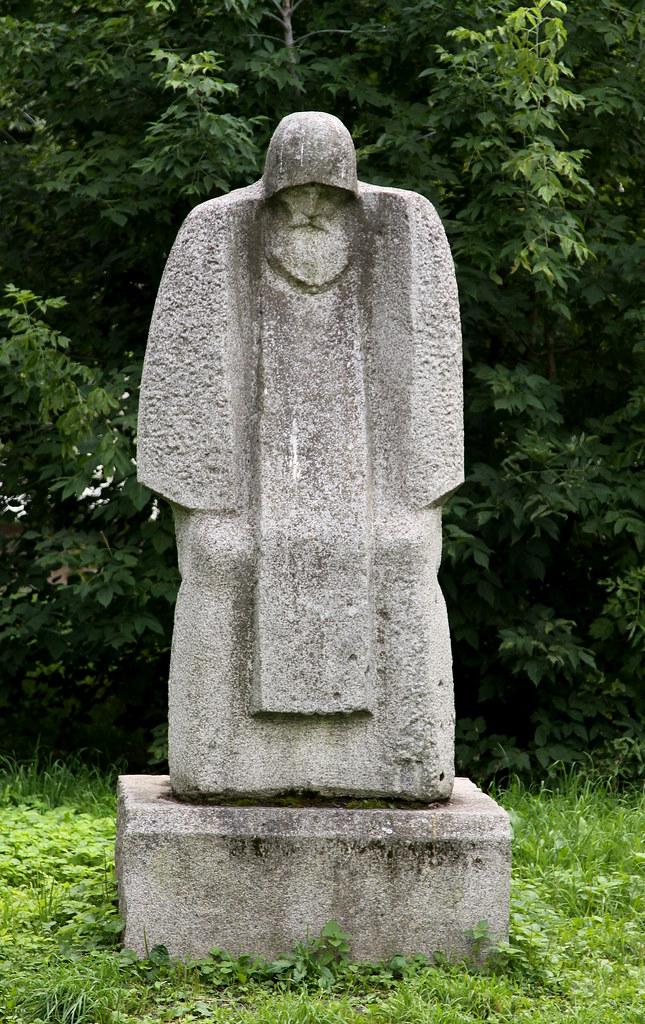 russia - tver   Introvert statue in Tver (Russia). Tver is ...