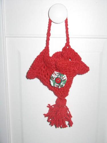 Crocheted penny pocket