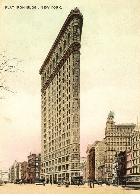 New York - the Flatiron Building Prior to 1921.  And Some Interesting Facts About it.