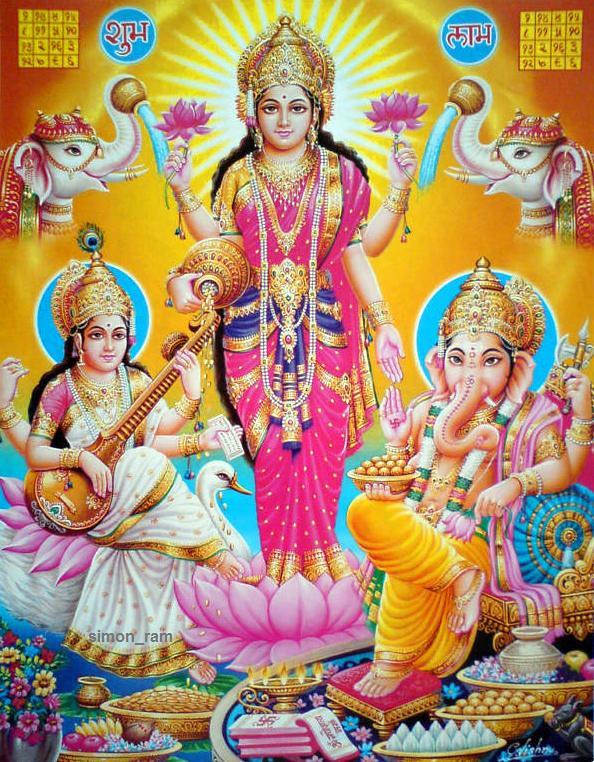 Lakshmi Maa Saraswati Maa And Ganesha Check Out My Durga Flickr